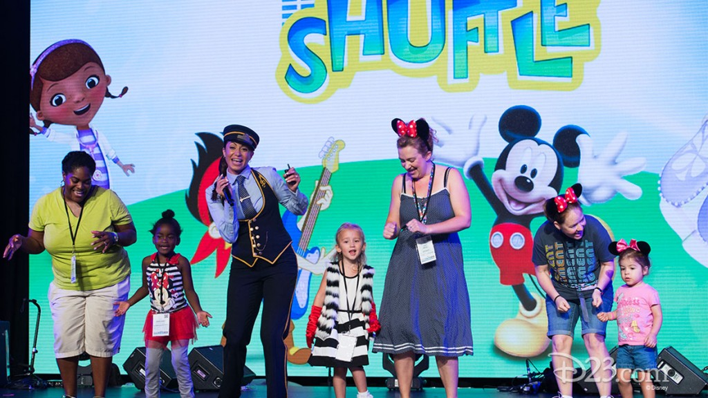Fans doing the Choo Choo Shuffle at D23 EXPO 2015