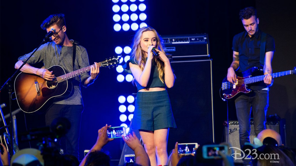 SABRINA CARPENTER Performing at D23 EXPO 2015