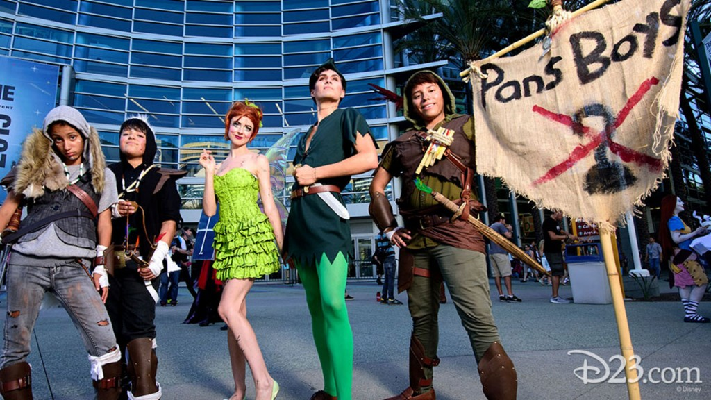 Fans dressed as Peter Pan characters at D23 EXPO 2015