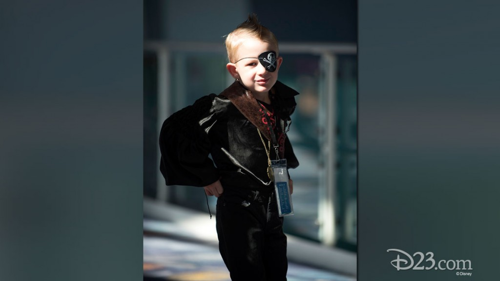 Little Boy in Pirate Costume at D23 EXPO 2015