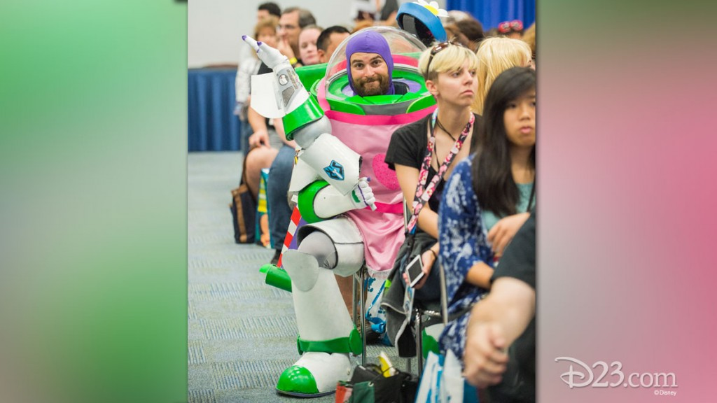 Fan in Buzz Lightyear Costume at D23 EXPO 2015