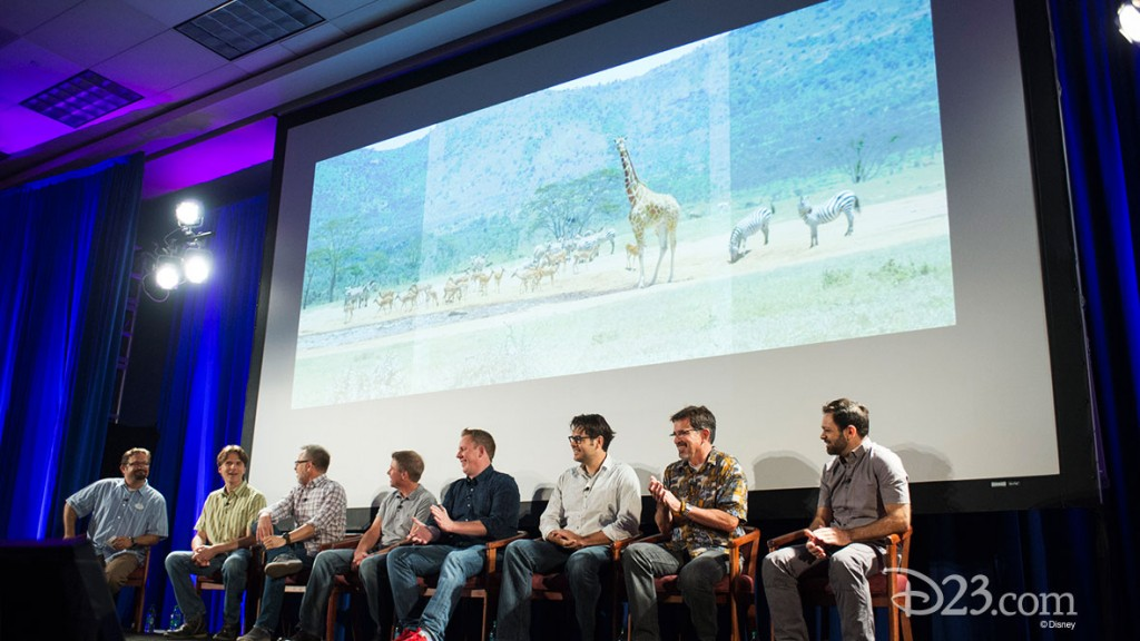 DARRIN BUTTERS, BYRON HOWARD, RICH MOORE, CLARK SPENCER, JARED BUSH, PHIL JOHNSTON, DAVE GOETZ, RENATO DOS ANJOS at D23 EXPO Zootopia Panel
