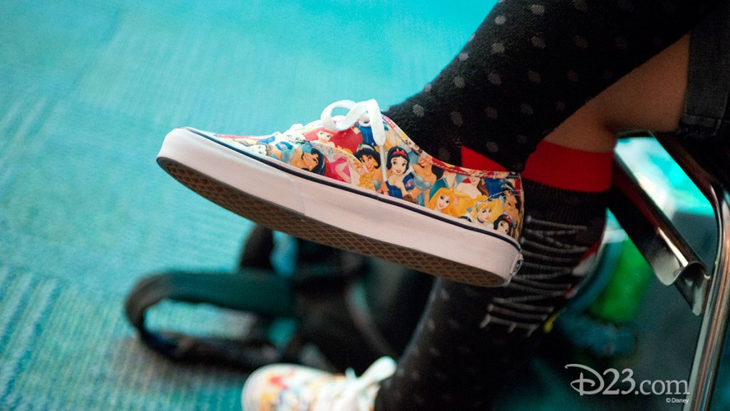 Fan wearing Limited Edition Disney Vans at D23 EXPO 2015