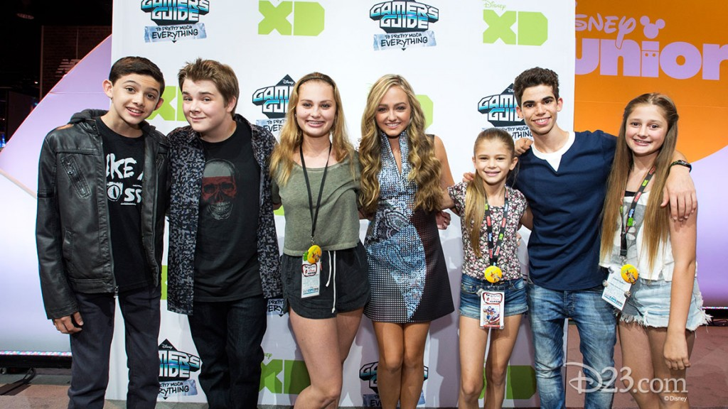 SOPHIE REYNOLDS, CAMERON BOYCE with Fans at D23 EXPO 2015
