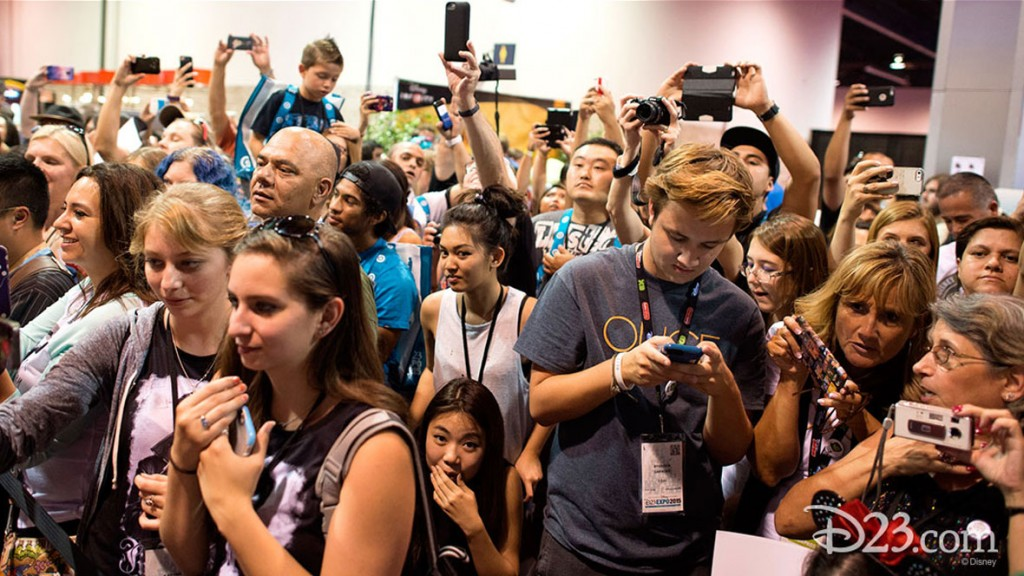 Fans taking photos at D23 EXPO 2015