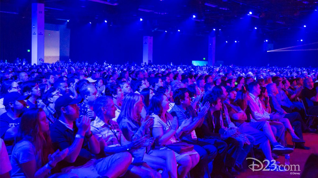 Captive audience at Star Wars: The Force Awakens Panel during D23 EXPO 2015