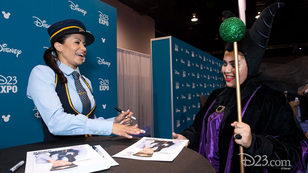 GENEVIEVE GOINGS signing an autograph at D23 EXPO 2015