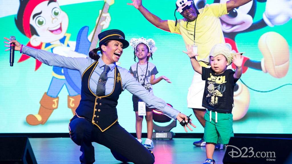 GENEVIEVE GOINGS and Dancing Fans at D23 EXPO 2015