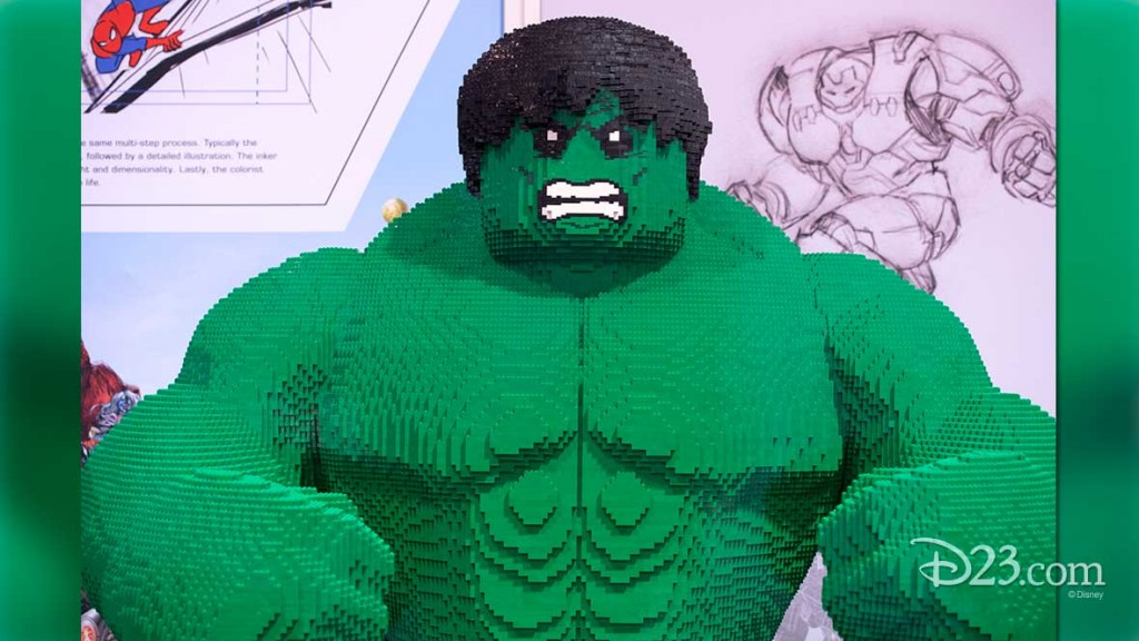 The Incredible Hulk made of Legos at D23 EXPO 2015