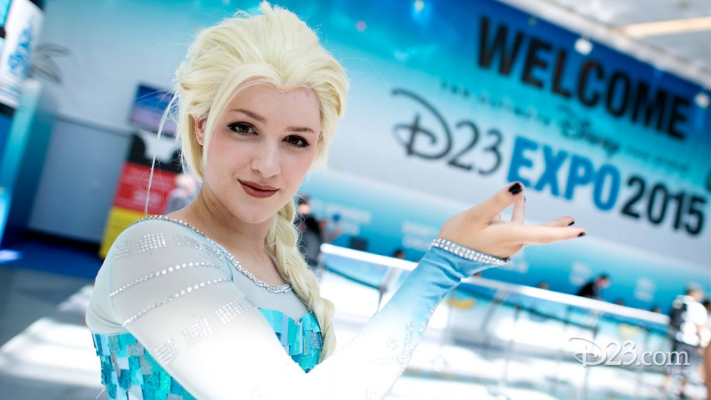 Fan Dressed as Elsa from Frozen