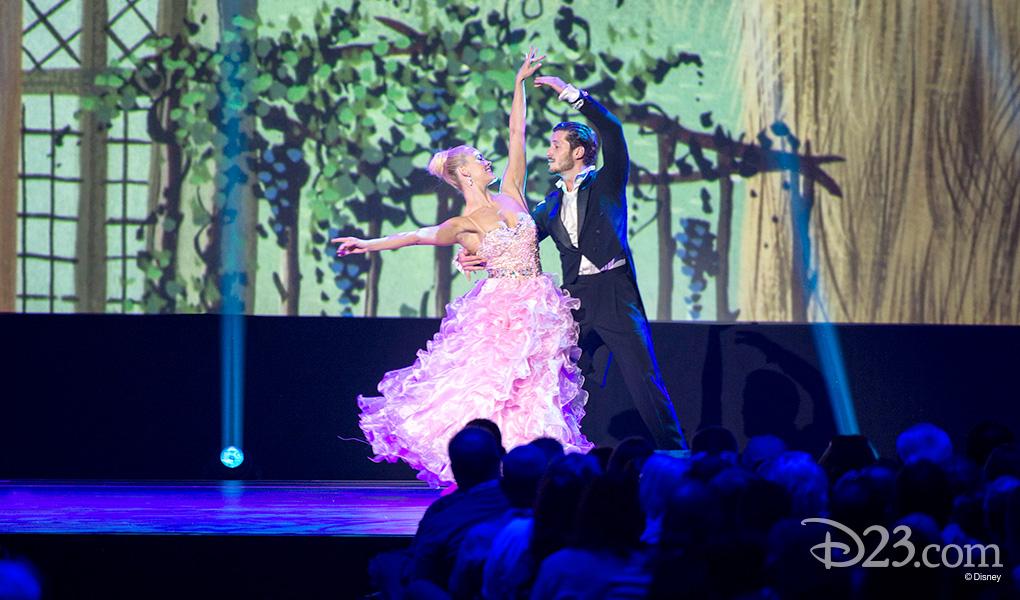 photo of Dancers Peta Murgatroyd and Valentin Chmerkovskiy at D23 Expo 2015 Disney Legends Awards