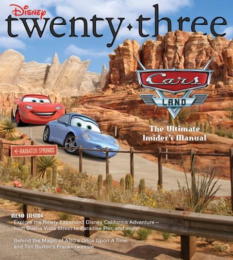 cover art of Disney Twenty-Three D23 Magazine - Cars Land