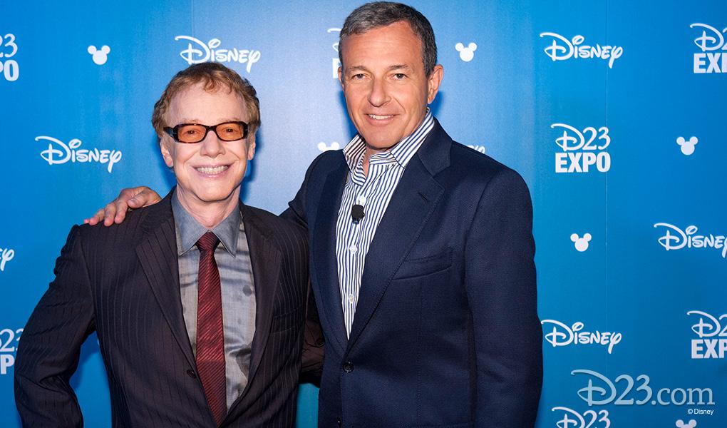 Danny Elfman with Robert Iger after Elman received Disney Legends Award
