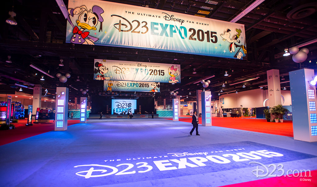photo of Main Exhibit Hall Ready to Open at D23 EXPO 2015