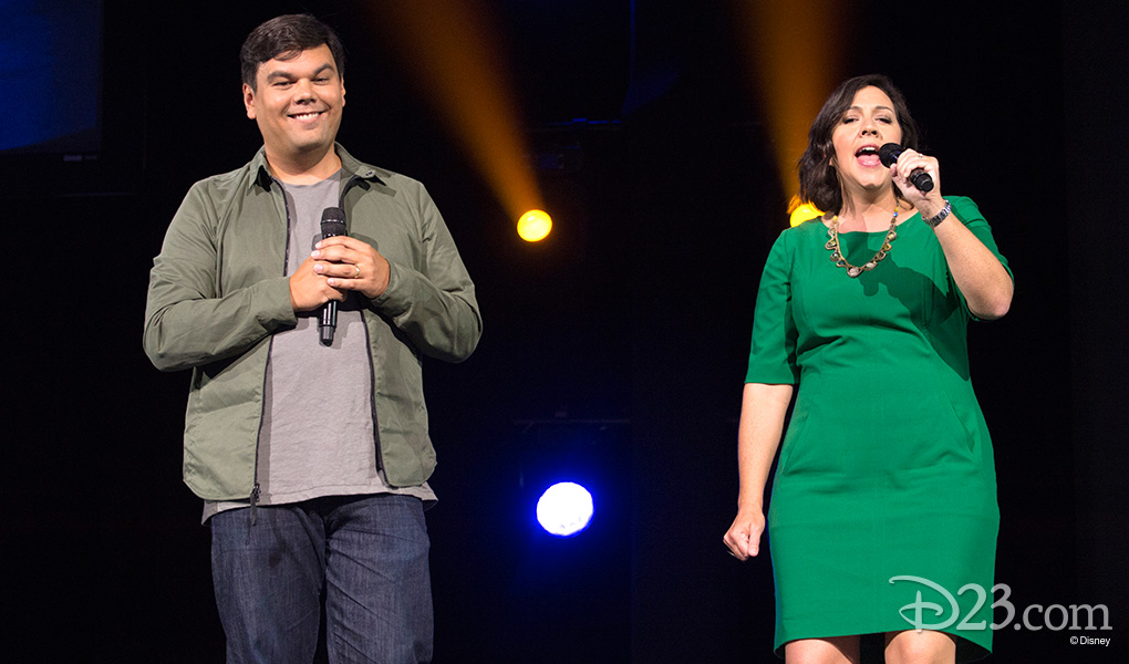 photo of Bobby Lopez and Kristen Anderson-Lopez Singing