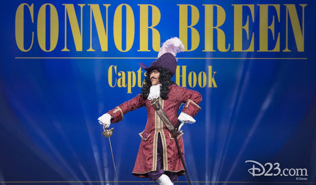 Connor Breen as Captain Hook in D23 EXPO 2015
