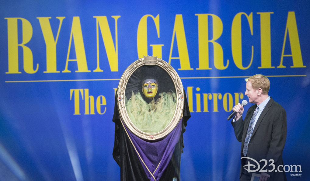 RYAN GARCIA as The Magic Mirror from Snow White and the Seven Dwarfs