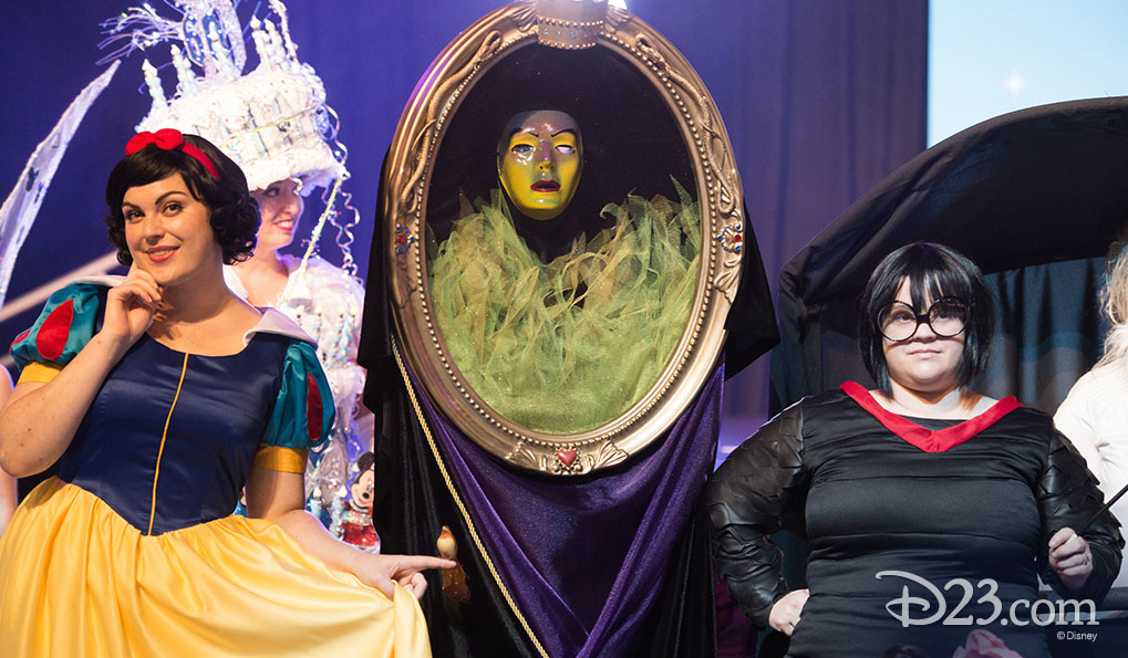 Snow White, The Magic Mirror and Edna Mode