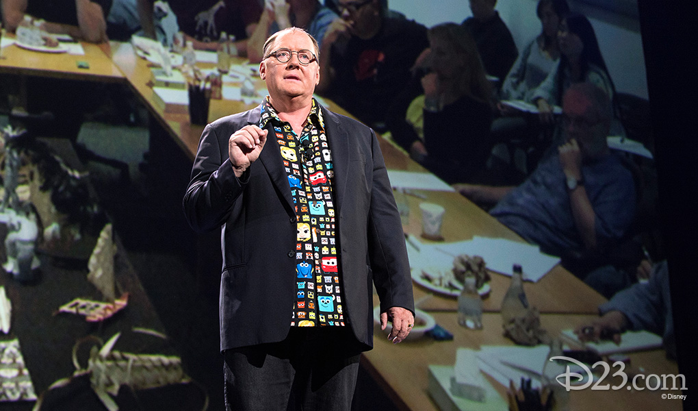 photo of John Lasseter giving On Stage Presentation