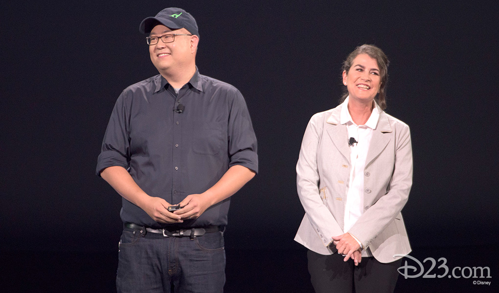 photo of Peter Sohn and Denise Ream side by side smiling on stage