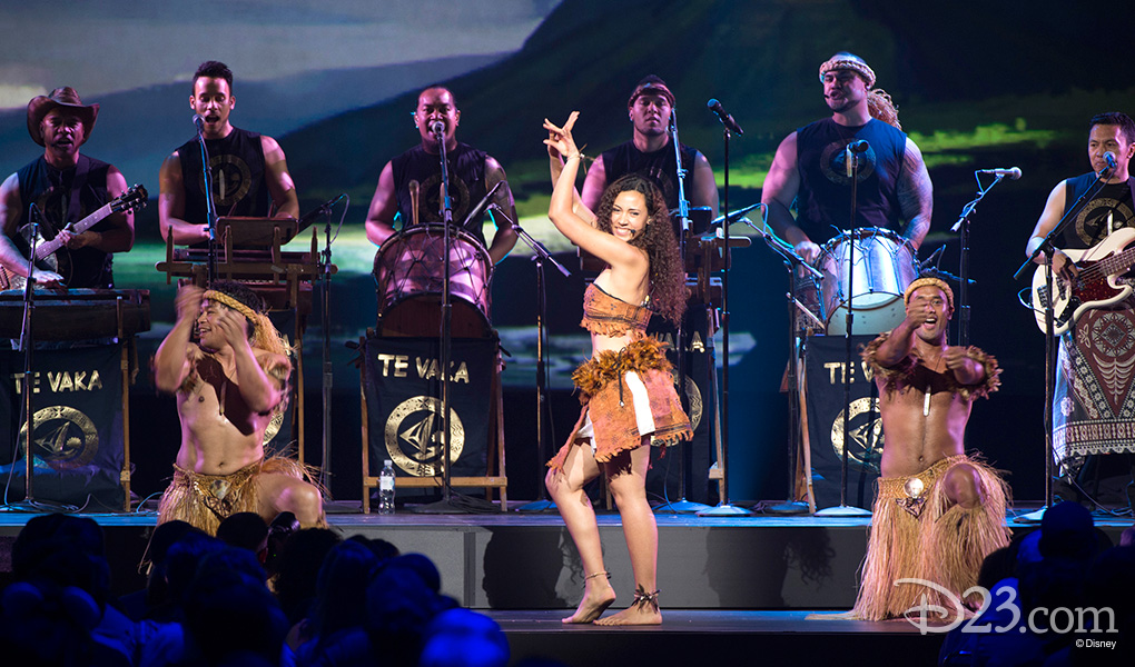 photo of musicians, singers, dancers in Te Vaka music group performing on stage