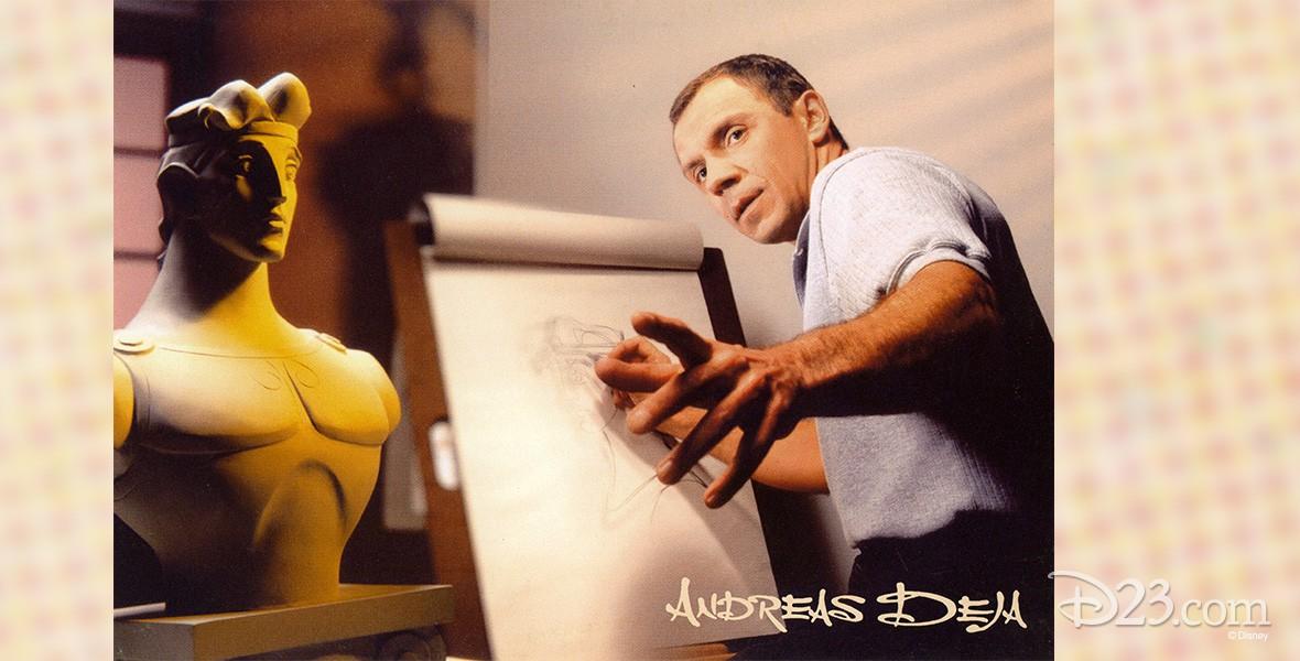 photo of Andreas Deja at his sketch board