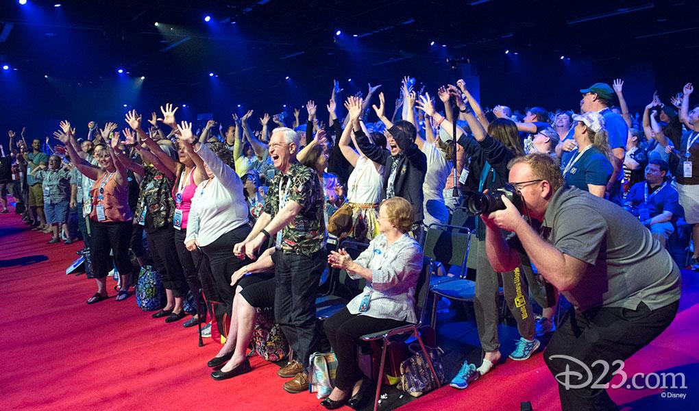 photo of Enthusiastic Audience at Pixar - Walt Disney Animation Presentation at D23 Expo 2015