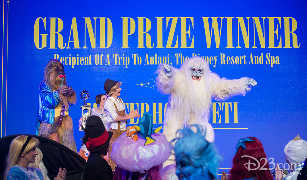 photo of Grand Prize Winner Yeti Costume at D23 Expo 2015