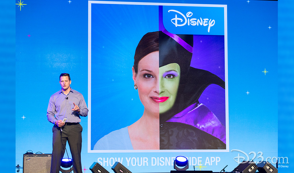 photo of stage presentation of Show Your Disney Side App