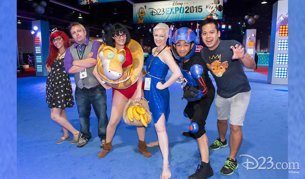 photo of Six Fans Dressed in Costume at D23 Expo 2015