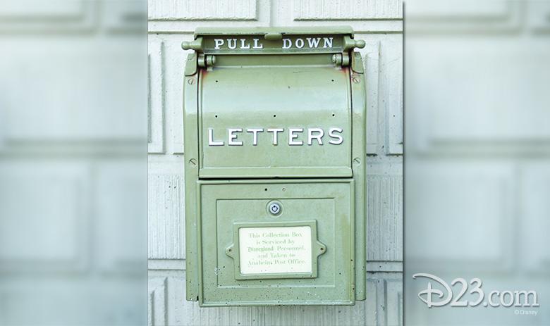 Disneyland entrance mailbox
