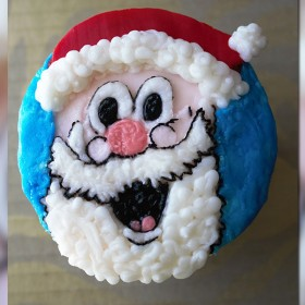 Santa Christmas cupcake