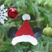 Make a Mickey Mouse Santa Hat Ornament