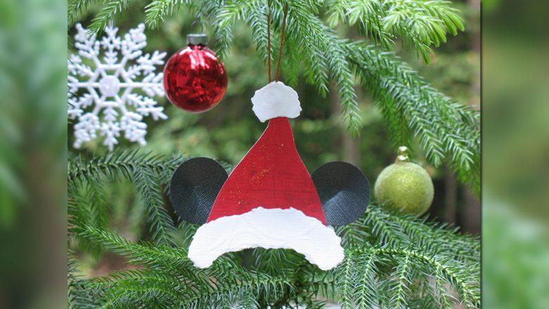 5f2ffaf3e2074 Make a Mickey Mouse Santa Hat Ornament - D23