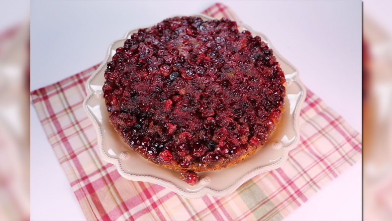 Cranberry ginger upside down cake