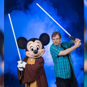 Mickey Mouse and Mark Hamill