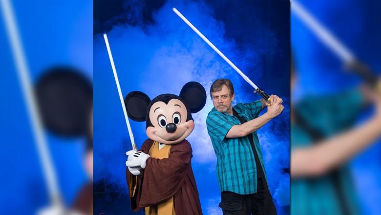 Mickey Mouse and Mark Hamill
