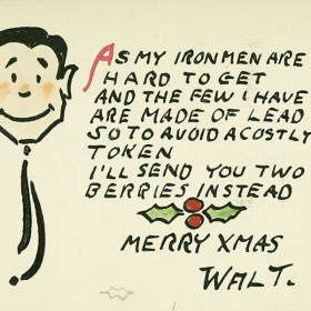 Walt Disney Christmas card