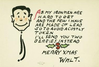 Walt Disney Christmas card