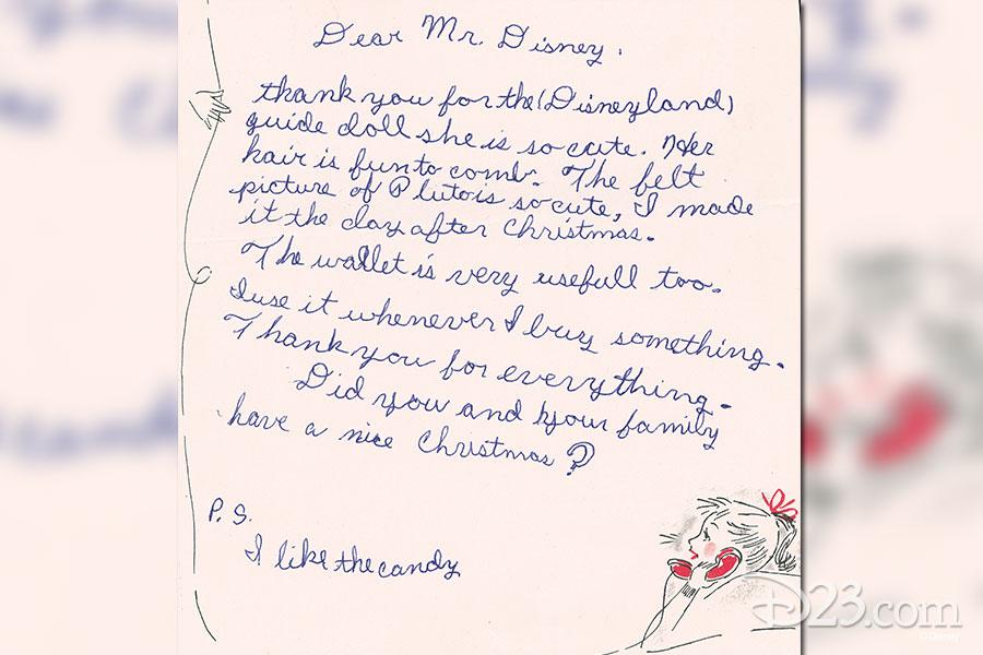 Thank You Cards to Walt Disney