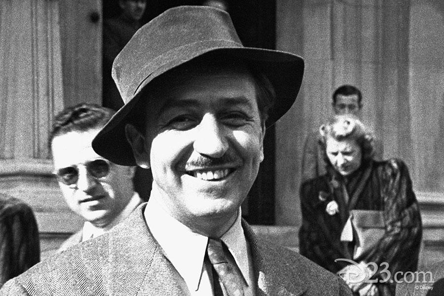 Walt Disney wearing a floppy hat in South America.