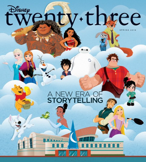 Disney twenty-three Fall cover art featuring Walt Disney Animation