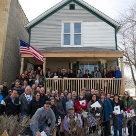 D23 Members in front of Walt Disney's birth home.