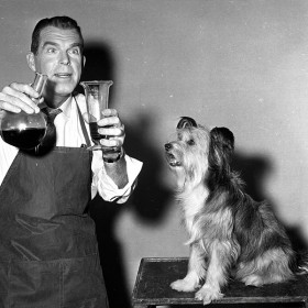 Professor Brainard and his dog