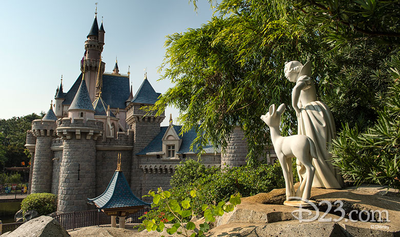 view of the castle from snow white grotto