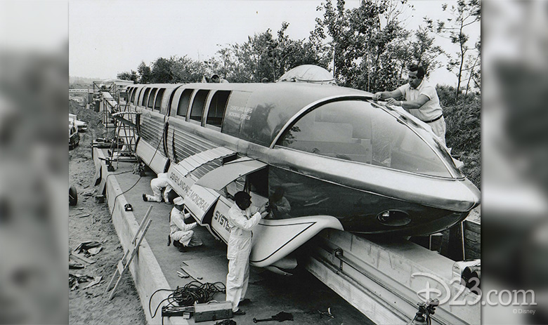 Bob Gurr with the Mark I Monorail