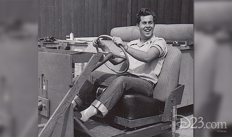 Bog Gurr in a test car
