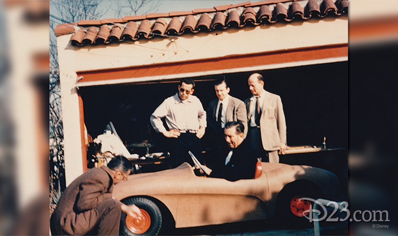 Roger Broggie, Bob Gurr, Bill Cottrell, and Dick Irvine