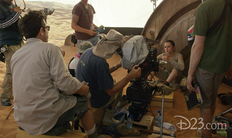 Behind the scenes of Star Wars: The Force Awakens