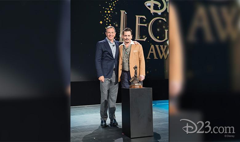 Bob Iger and Johnny Depp